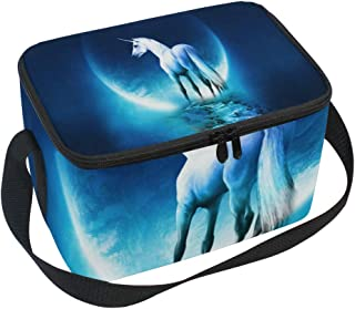 Lunch Bag Inspiring Unicorn Insulated Reusable Lunch Tote Zipper Lunch Box Food Container Gourmet Waterproof Tote Bags for Kids Womens Mens Boys Girls