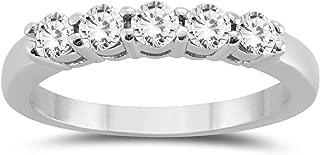 1 ct 5 stone diamond band