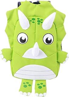 LFLF (Green Sac à L'école pour Enfants Sac D'âge Préscolaire Anti-Perdu Sac De Dessin Animé Mignon Sac à Bandoulière étanche
