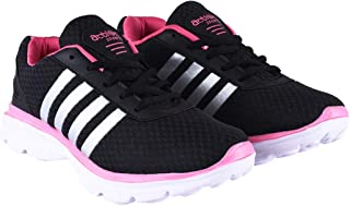 Action Women's Lace Up Synthetic Fabric EVA Rubber Sole Sports Running Shoes