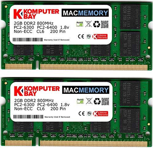 Komputerbay 4GB 2X2 800 SODIMM - Memoria RAM para iMac y Mac