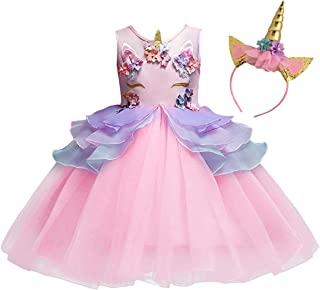 MYRISAM Unicorn Princess Tulle DressGirls Birthday Pageant Party Dance Performance Outfits Carnival Dress up Fancy Costume