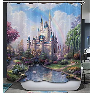 Cinderella Castle Shower Curtain Magical Scenic Place Fantasy Fairy Tale