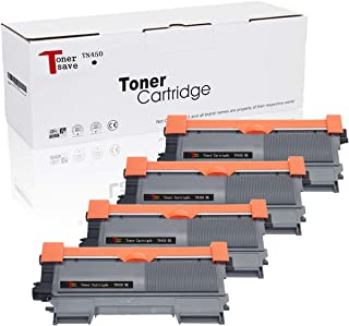 TonerSave TN450 Toner Cartridge TN-420 Compatible for Brother HL-2280DW HL-2270DW DCP-7065DN MFC-7460DN MFC-7860DW MFC-7360N DCP-7070 DCP-7070DWR HL-2135W MFC-7360 4 Pack