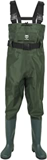 TideWe Bootfoot Chest Wader, 2-Ply Nylon/PVC Waterproof Fishing & Hunting Waders for..