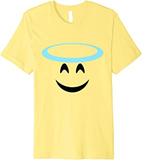 Halloween Emoji Costume Smiling Face Halo Angel Emoticon Premium T-Shirt