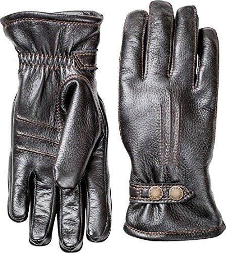 HESTRA Gants en cuir pour homme : gants d'hiver par temps froid Tallberg 38 Noir