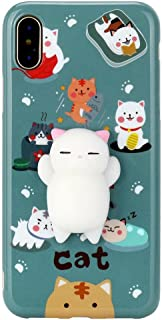 Creazydog Creazy New Squishy 3D Squeeze Cute Mochi Toy Silicone Back Soft Case Cover for iPhone X