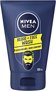 NIVEA Men Beard & Face Wash, Formulated with Chamomile for Clean Beard and Skin Comfort, 100 ml