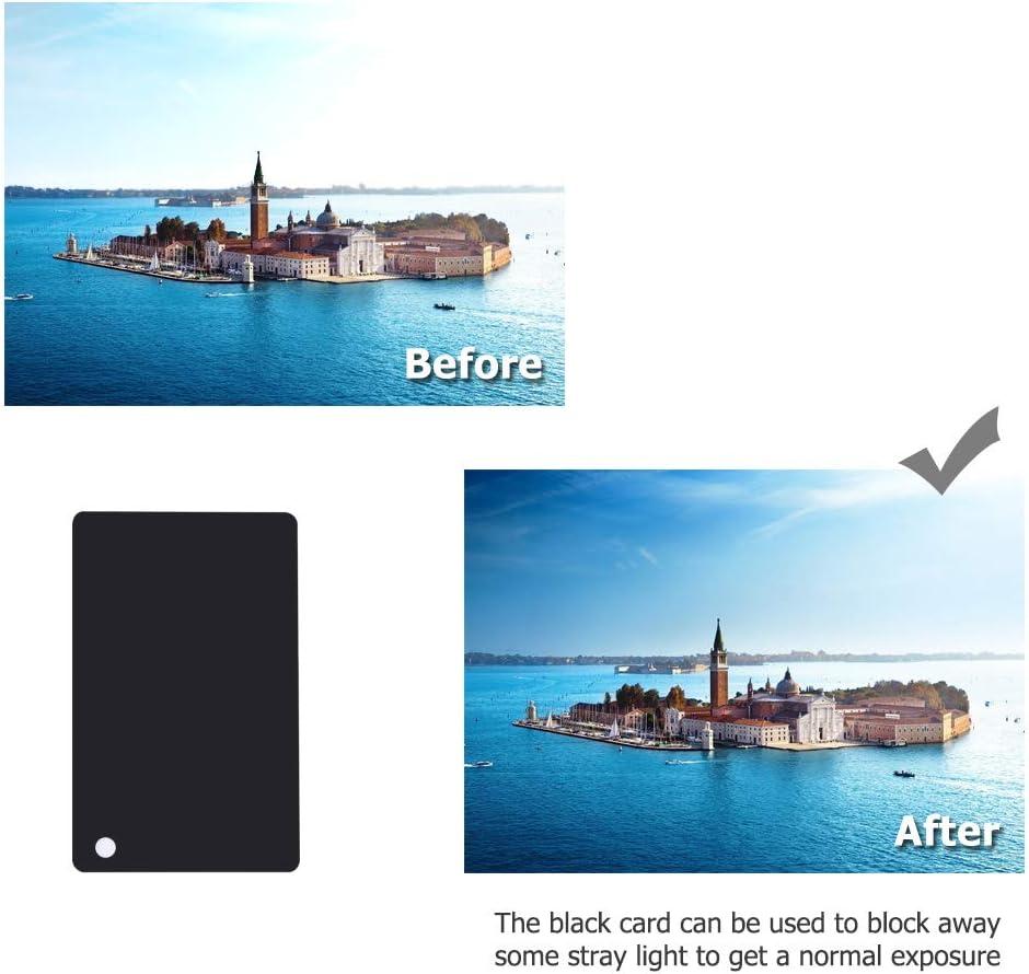 Cartes 3 en 1 format de poche pour appareil photo reflex num/érique et appareil photo num/érique avec balance des blancs de 18 /% pour appareils photo reflex num/ériques et films.