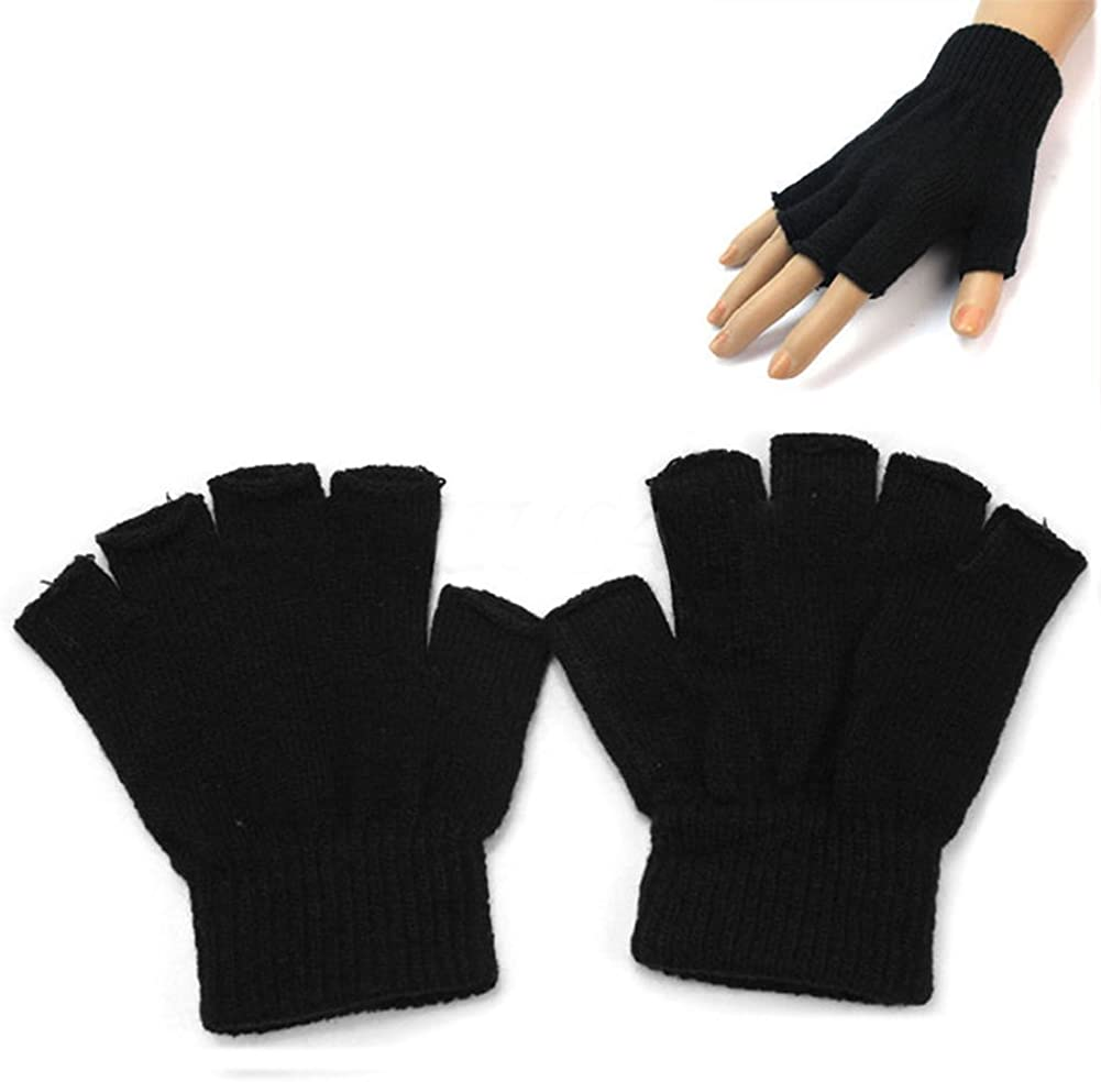 Tennessee526 Unisex Winter Outlet ☆ Free Shipping Warm Half Gloves Finger Sale SALE% OFF Adults