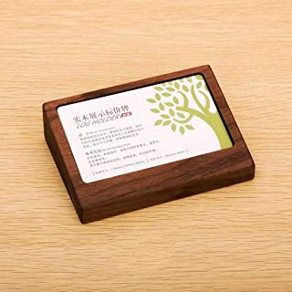 LIGHJGS New Solid Wood Card Box/Table Sign Rack/Commodity Label Rack/Product Price Card Storage Box Description Card Display Stand Inclined Table 105x75mm