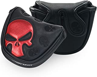 Craftsman Golf Red Skull Black Mallet Putter Cover Headcover for Scotty Cameron Odyssey