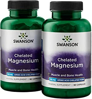 Swanson Chelated Magnesium 133 Milligrams 180 Capsules 2 Bottles