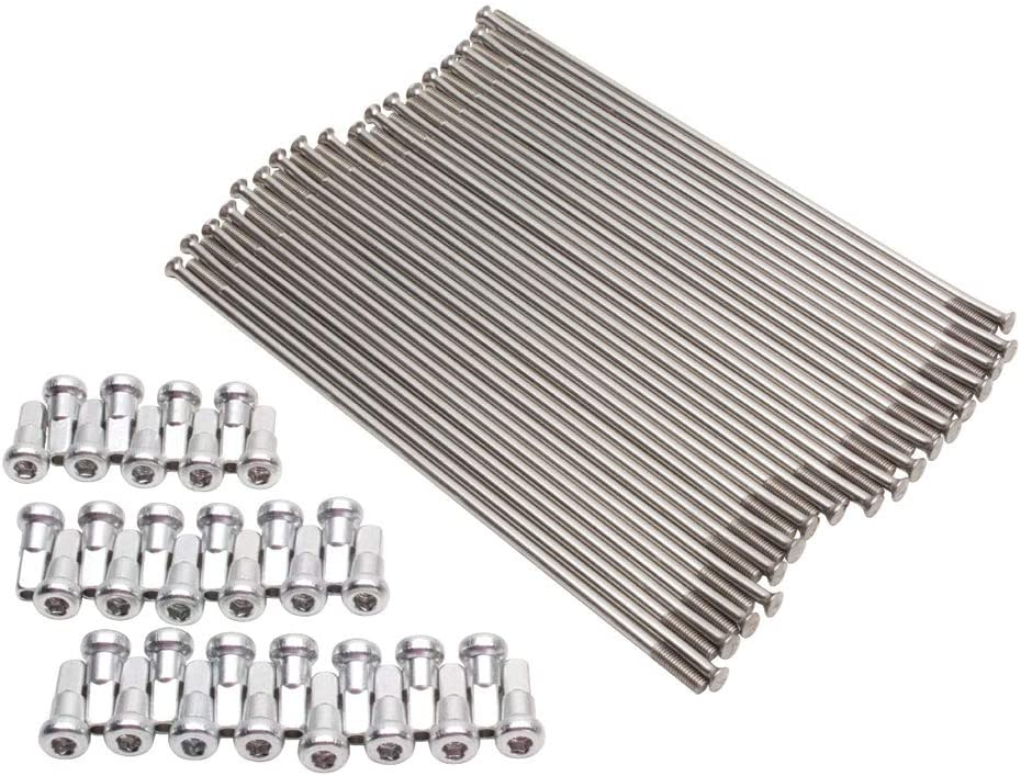 Tusk Price reduction Motorcycle Spoke Kit Silver Max 64% OFF 19