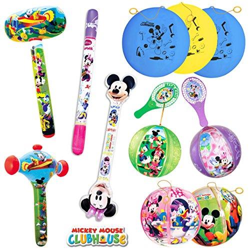 TB TOYS Mickey/Minnie Kit de Fiesta de cumpleaños con 11 Juguetes hinchables para los niños