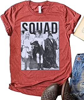 FENKAY Squad Goals Short Sleeve Tees Womens Funny Halloween Hocus Pocus Graphic Tops T-Shirt (Orange Red, S)
