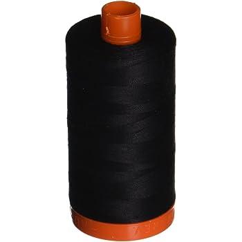 Aurifil A1050-2692 Mako Cotton Thread Solid 50WT 1422Yds Black