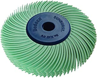 Dedeco Sunburst - 2 Inch TC 6-PLY Radial Bristle Discs - 1/4 Inch Arbor - Industrial Thermoplastic Rotary Cleaning and Polishing Tool, Ultra-Fine 1 Micron (1 Pack)
