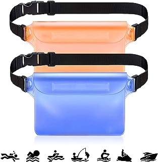 Conthfut 防水ポーチ 防水ケース 3重チャック PVC素材 海水浴 プール 釣り バイク ウエストバッグ 防水パック 携帯 [一年間品質保証]