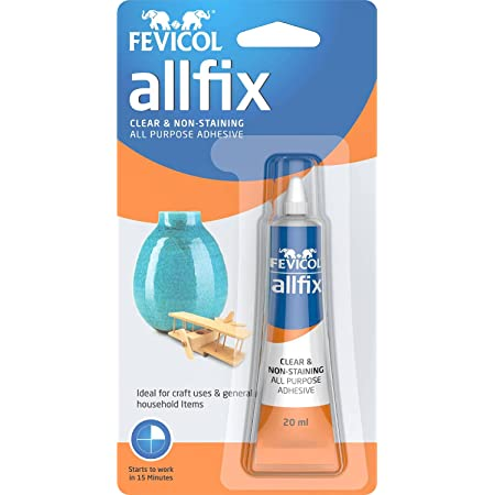 Pidilite Multi-Purpose Allfix Clear & Non-Staining Adhesive (20ml)