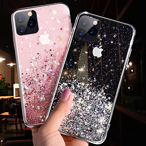 ZP-MIN Aplicable a iPhone 11 12 Pro Max XR XS Max X 7 8 6S Plus silicona suave iPhone 11PRO transparente cubierta trasera