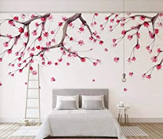 Wallpaper 3D Chinese Cherry Blossom, Hand-Painted, Flower Modern Custom Photo Wallpaper Murals Wall Decor