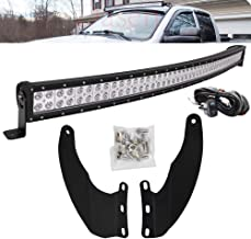 DaSen For Dodge Ram 1500 02-08 & 2500/3500 03-09 52 Inch 300W Curved LED Light Bar w/Wiring Kit and Upper Roof Windshield Mounting BracketS