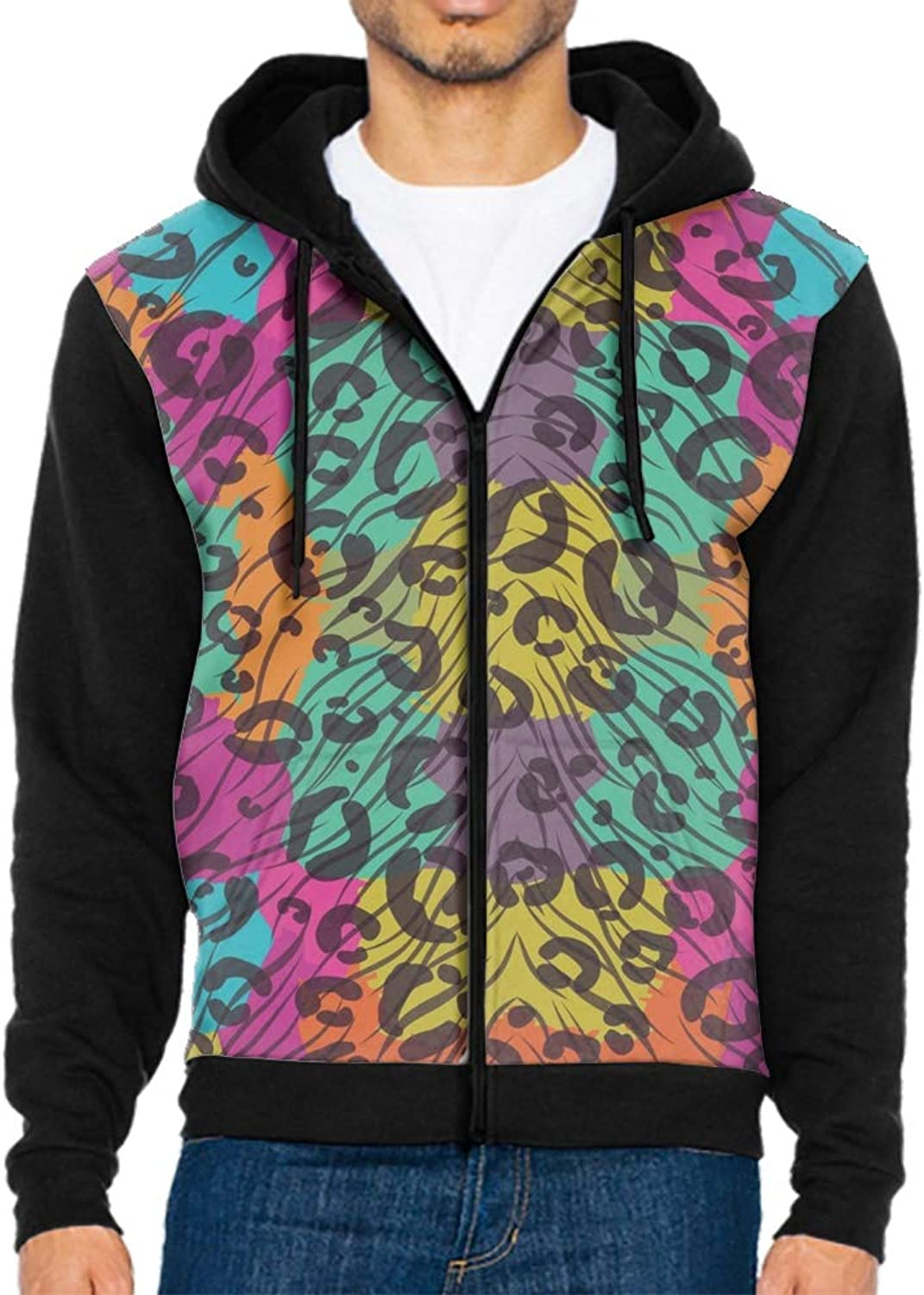 112ef31e7 Men's colorful Animal Print Zip Hoodie Camping Hooded Sweatshirt Outdoor Up  nxyqht3354-Sporting goods
