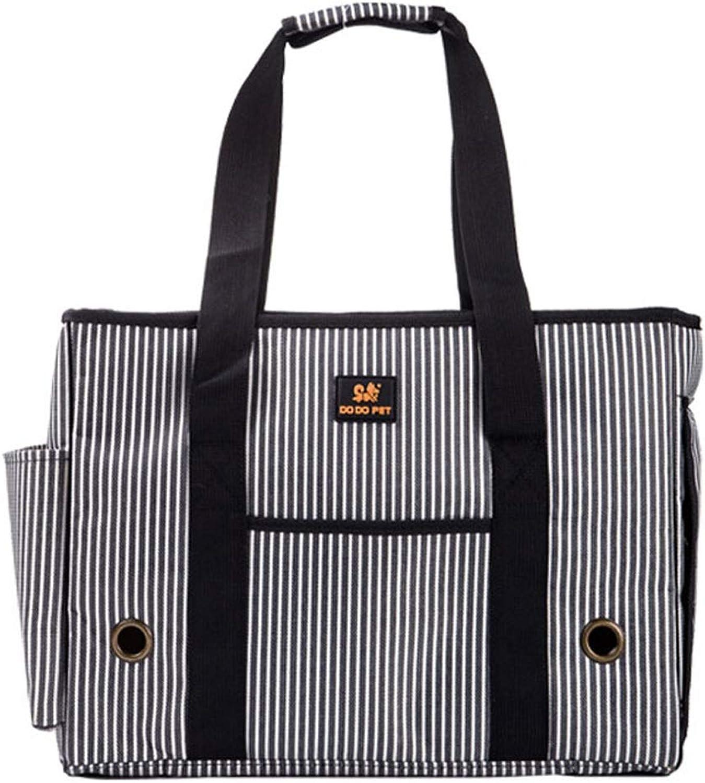 EDYUCGA Pet Dog Outdoor Backpack Cat Bag Dog Handbag Full Closed Pet Travel Carrier (color   Black White, Size   M)