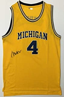 87537a1fb Chris Webber Autographed Signed Michigan Wolverines Basketball Jersey Kings  Memorabilia JSA