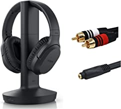 Sony RF400 Wireless Simple Set-Up Home Theater Headphones (WHRF400) - 20 Hour Battery Life - 150 ft Range - 6ft 3.5mm Stereo/2 RCA Plug Y-Adapter for TV