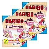 Haribo fruitmania Yaourt, Lot de 3, caoutchouc–Babyours–Vin en caoutchouc, Fruit caoutchouc en sachet, 175g