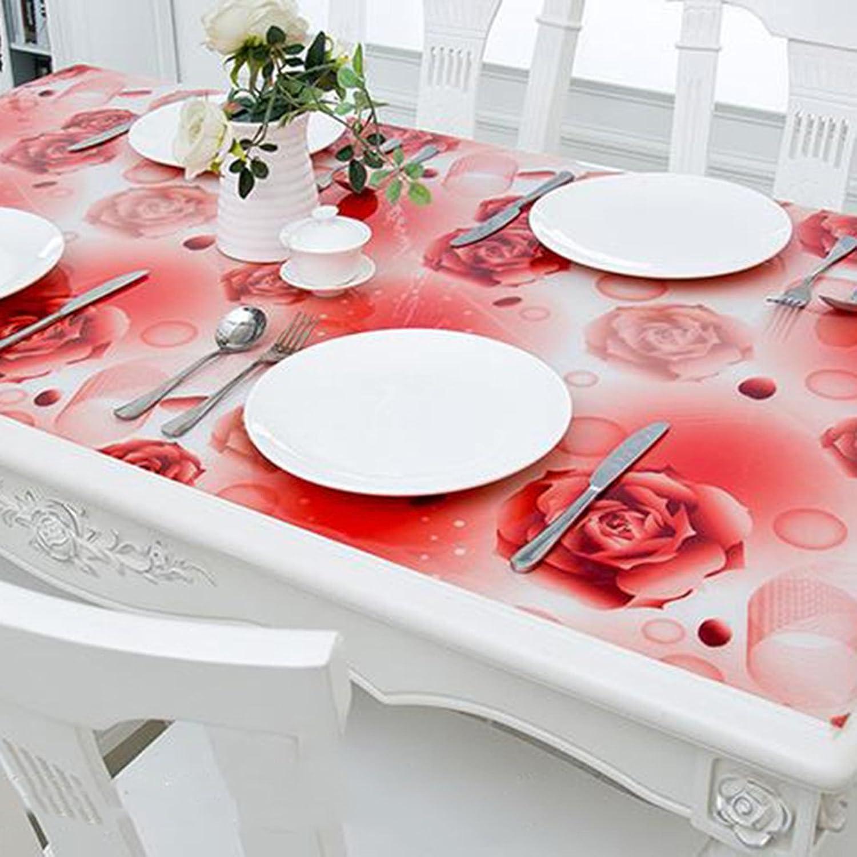 Unbekannt %Tablecloth Tischdecke wasserdicht und ölBesteändig Weich-PVC Transparente Kunststoffmatte Tischplatte Kristallplatte (Farbe   C, größe   80  140CM) B07G53R688 Preisrotuktion   | Perfekt In Verarbeitung