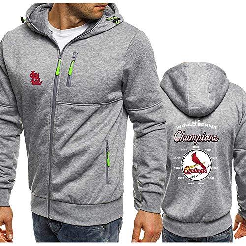 MLB Herren Hoodie, Kapuzenpullover mit St. Louis Cardinals Logo Design Major League Baseball Team Sweatshirts Fans Trikots Liebhaber Hoody Sweater (M,C)
