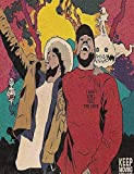 E-Buyer Kid Cudi and Kanye West Singer - Kids See Ghosts Unframed Wall Art Print Poster Size:12x18 inch, Mk532
