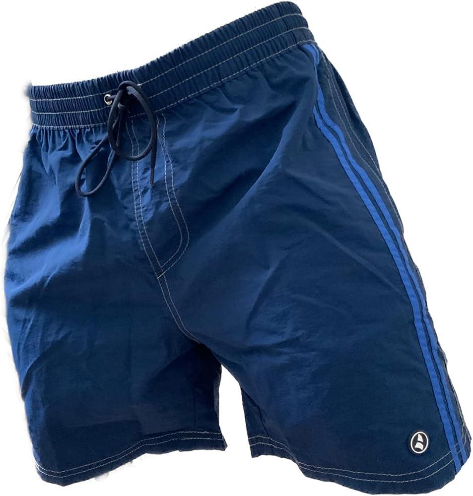 Navigare costume da bagno a pantaloncini da uomo 100% poliestere 98342 Blu