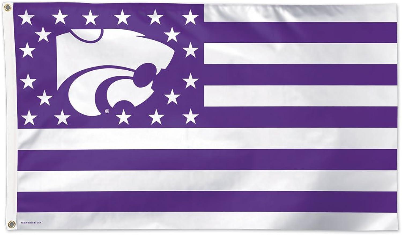 (Kansas State Wildcats) - NCAA Stars & Stripes Flag Deluxe