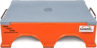 Ergo-Step Stool, Stackable, Orange (Pack of 4 bottom stools)