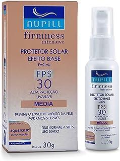 Protetor Solar Facial FPS30 Base Média Nupill 30g, Nupill, Bege Medio