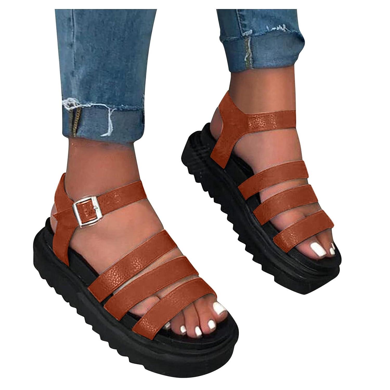 Padaleks Womens Platform Super sale Wedge Comfort Strap Sandals Detroit Mall Ankle Open