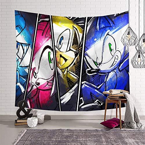 Wandteppiche für Wohnzimmer, Sonic The Hedgehog für Wandbehang, 130 x 150 cm
