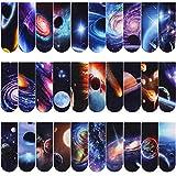 MWOOT 30 Piezas Universo Galaxy Marcadores de Libro Magnéticos,Planeta Magnetic Bookmarks Set,Cielo Estrellado Marcapáginas Clip de Página para Estudiantes Oficina Suministros de lectura (2x6cm)