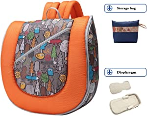 ZRWZZ Multi-functional Baby Nest  Portable Baby Sleep Nest  Soft and Safe Baby Sleep Pod  out Mobile Folding Baby Backpack  Unisex  Color Orange