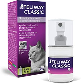 FELIWAY Classic 20ml Spray, comforts cats and helps solve behavioural issues in the home and on the move - 20ml