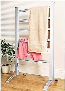 STATUS Portátil Aluminio Radiador Toallero con 6 Calefactado barras, Plata, 100 CON
