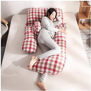 SYue U-Shaped Pima Cotton Full for Sleeping Breastfeeding and Feeding with Removable and Washable Cotton Pillowcase, Nursing Pillow White