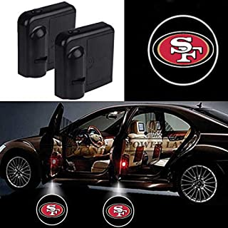 For San Francisco 49ers Car Door Led Welcome Laser Projector Car Door Courtesy Light Suitable Fit for all brands of cars (San Francisco 49ers)
