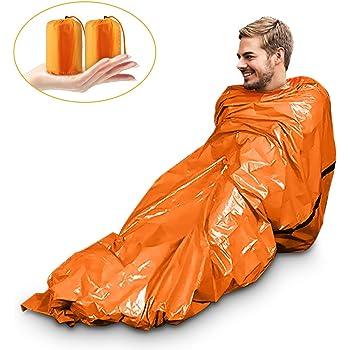 Camouflage Saco de Dormir de Supervivencia Ligero con Aislamiento t/érmico Compacto para Exteriores Senderismo Bolsa Impermeable para Acampada Top Lander Mochila
