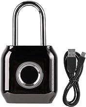 Universeel slot Draagbare metalen slimme vingerafdruk ontgrendelende veiligheid hangslot keyless lock waterdicht IP66 zwar...